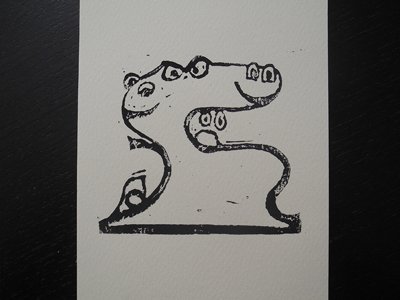 Linocut Emojito
