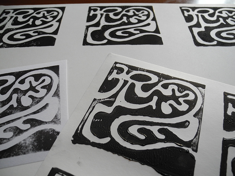 Linocut Magic Maze - le stampe
