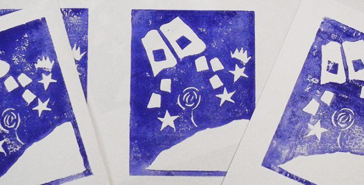 Linocut Piccolo Principe_Cartoline