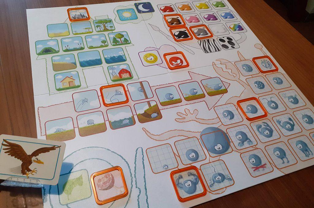 Tabellone, carte e segnalini  di Concept Kids - Animali